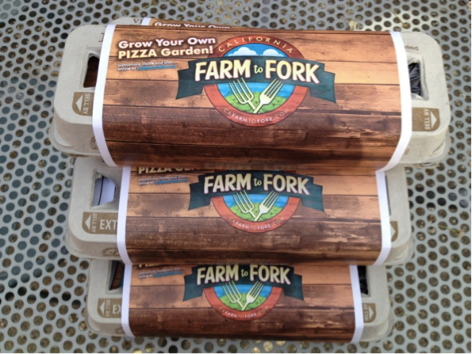 Farm to Fork branded egg cartons