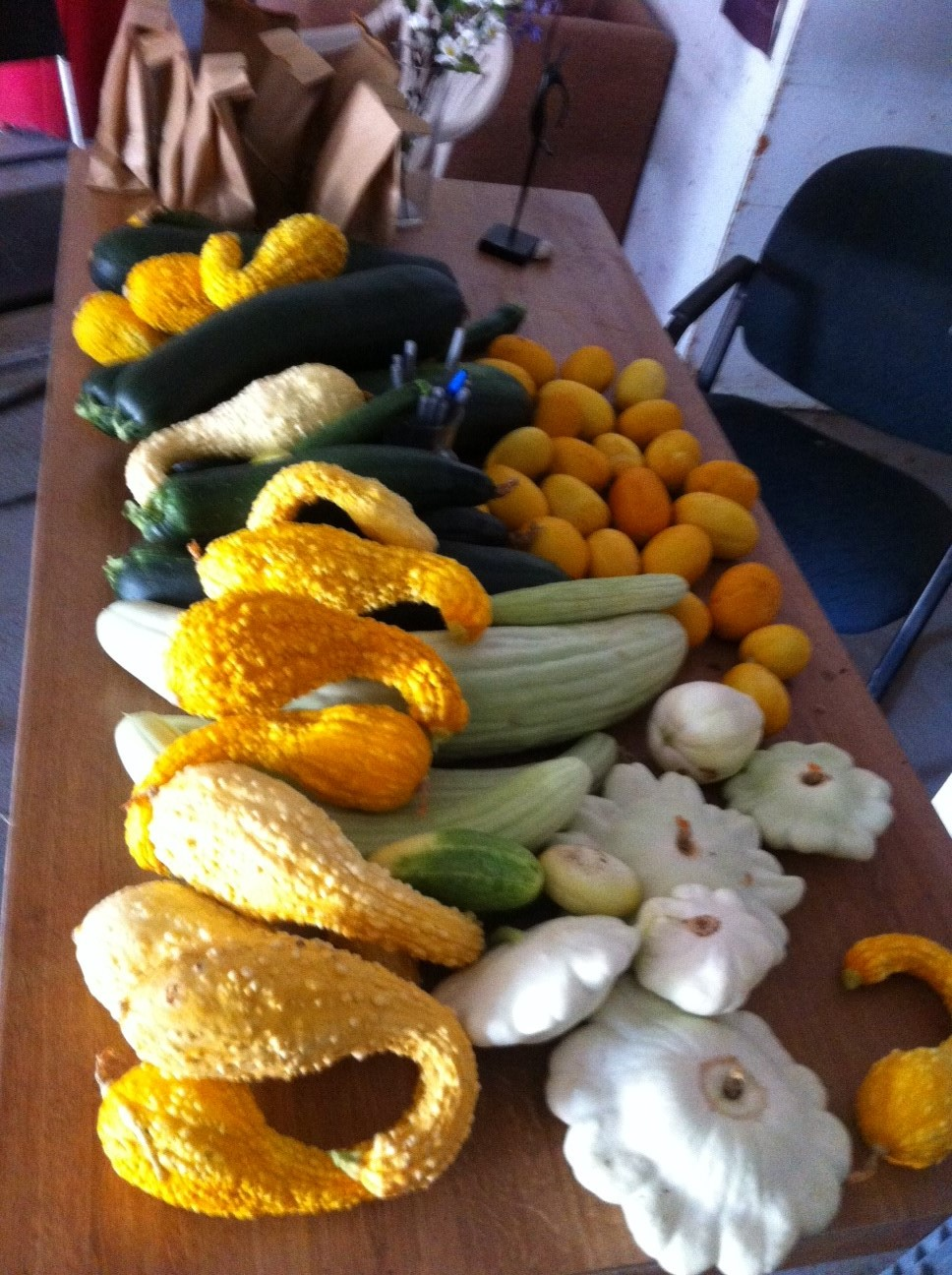 Various squash and other vegetables
