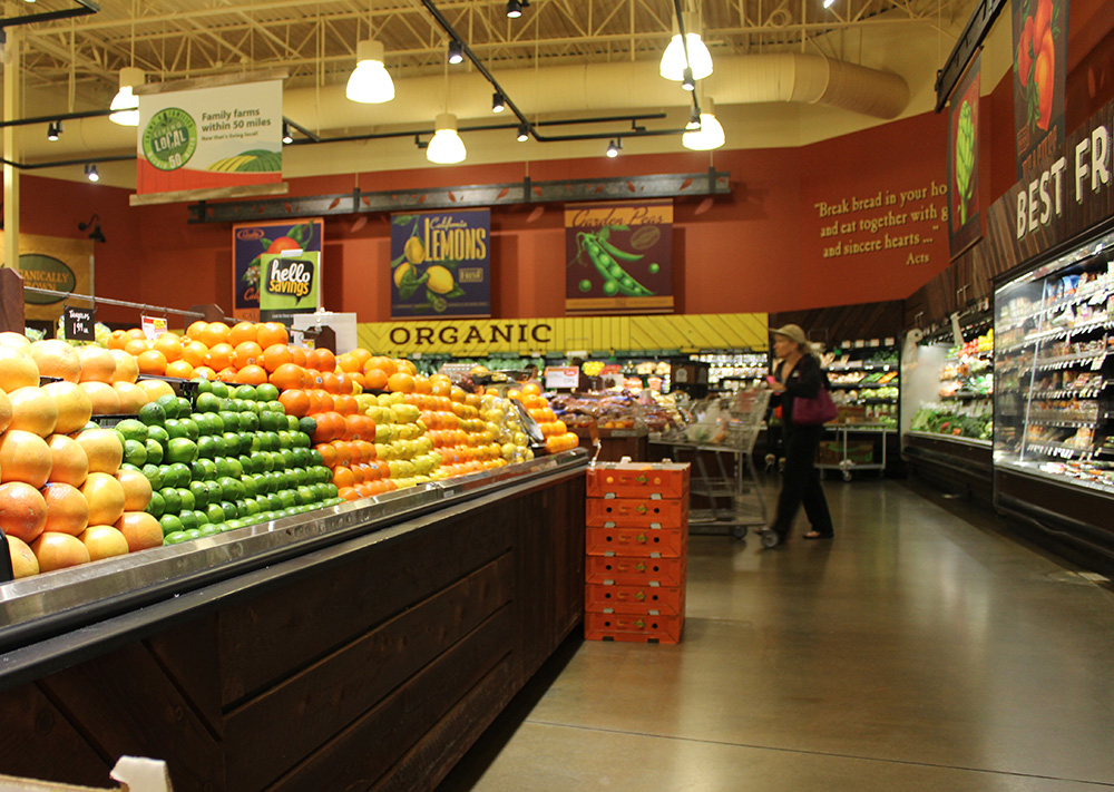 Fruit and vegatable Section of Raleys